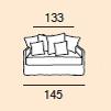 2-sits (145cm)