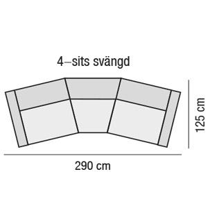 4-sits svängd